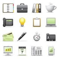 Stylized icons Business