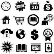 business icons and design elements