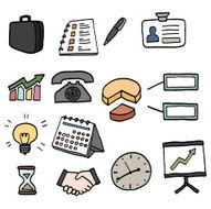 Business icons set N46