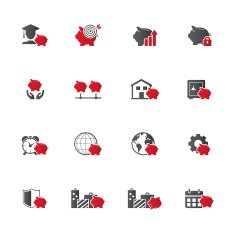 Savings icon set N3