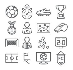 Soccer Line Icons
