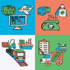 Logistic design concept flat icons