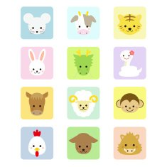 Oriental Zodiac animal icons