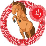Chinese Zodiac Animal - Horse