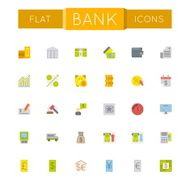 Vector Flat Bank Icons