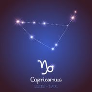Vector zodiac horoscope - Capricorn