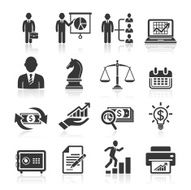 Business management and human resources icons