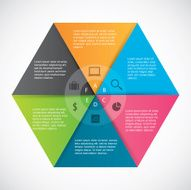 Infographics hexagon paper