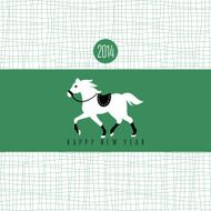 Year of the horse card N12