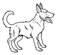 Stylised dog illustration N2
