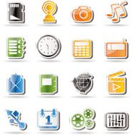 phone performance internet and office icons N3