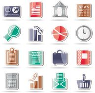 Business and Office Realistic Internet Icons N2
