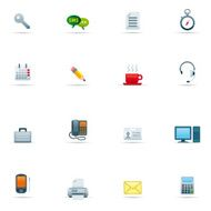 Icon Set Office Color N2
