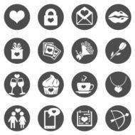 Vector Set of Icons for Valentine Day N25