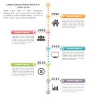 Timeline Infographics Template N2
