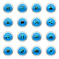 Blue Icons - Social Network