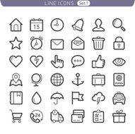 Line icons Basic set