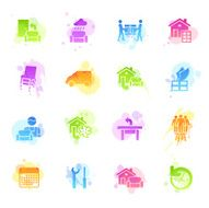 Stains Icons - Furniture Delivery
