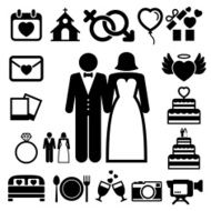 wedding icons set N6