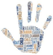 Word cloud related to World Day Against Child Labour N3