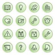 Organizer web icons Green series