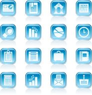 Business and Office Realistic Internet Icons N3