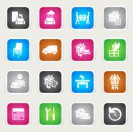 Multicolor Icons - Furniture Delivery