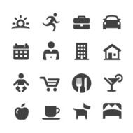 Lifestyle - Daily Life Icons Acme Series