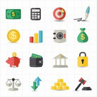 Business finance money icons