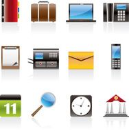 Business Office and Mobile phone icons N3
