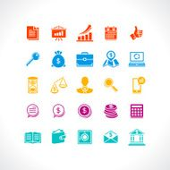 Set of business and money web icons