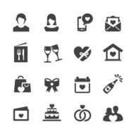Love Date and Wedding Icons - Acme Series