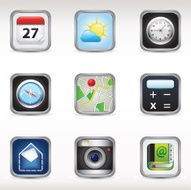 Mobile phone app icons