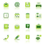 office & contacts icon set I eco reflection