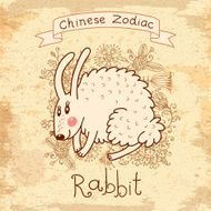 Vintage card with Chinese zodiac -