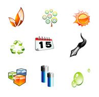 Glossy 3D set of design Elements