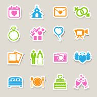 wedding icons set N7