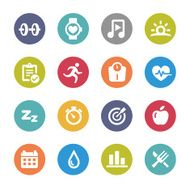 Fitness Icons - Circle Series