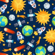 Seamless pattern of solar system planets and celestial bodies