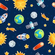 Seamless pattern of solar system planets and celestial bodies N2