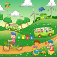 children Save our green world