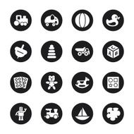 Toys Icons - Black Circle Series