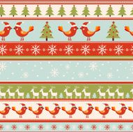 Seamless vector greeting Christmas card