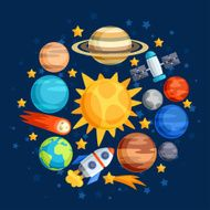 Background of solar system planets and celestial bodies N3
