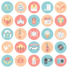 Round Wedding Icons