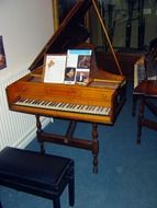 old wooden instrument,classical piano