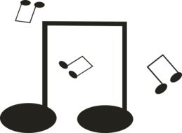 dancing music notes