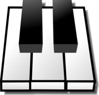 graphic image of the piano keys