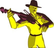 violinist as a colorful graphic image