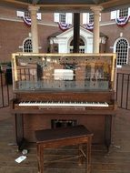 old historical piano